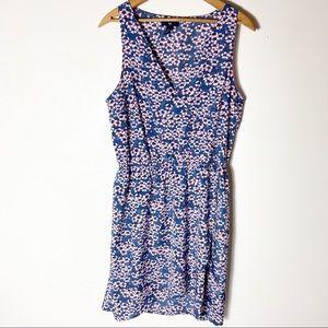 Gap Womens Blue Floral Boho Wrap Dress Size Medium
